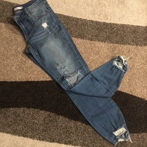 Cello destroyed skinny ankle jeans - Size 3